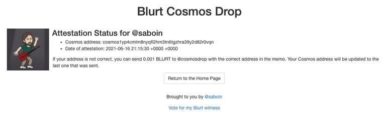 Blurt Cosmos Drop Attestation Status